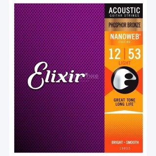 Elixir 16052 Akustik .012-.053 Phosphor Bronze